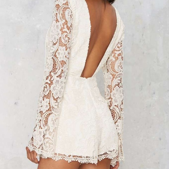 The Jetset Diaries Other - 🔥The Jetset Diaries Pisa ivory Lace Romper XS🔥